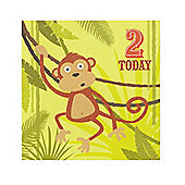 Jungle Friends Boys 2nd Birthday Card