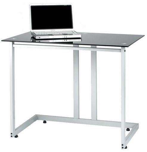PC006 SDB - Laptop or Small Computer Desk Black Glass