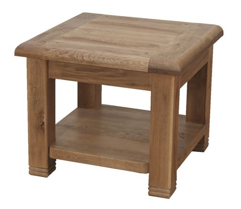 Furniture Link Danube End Table in Weathered Oak