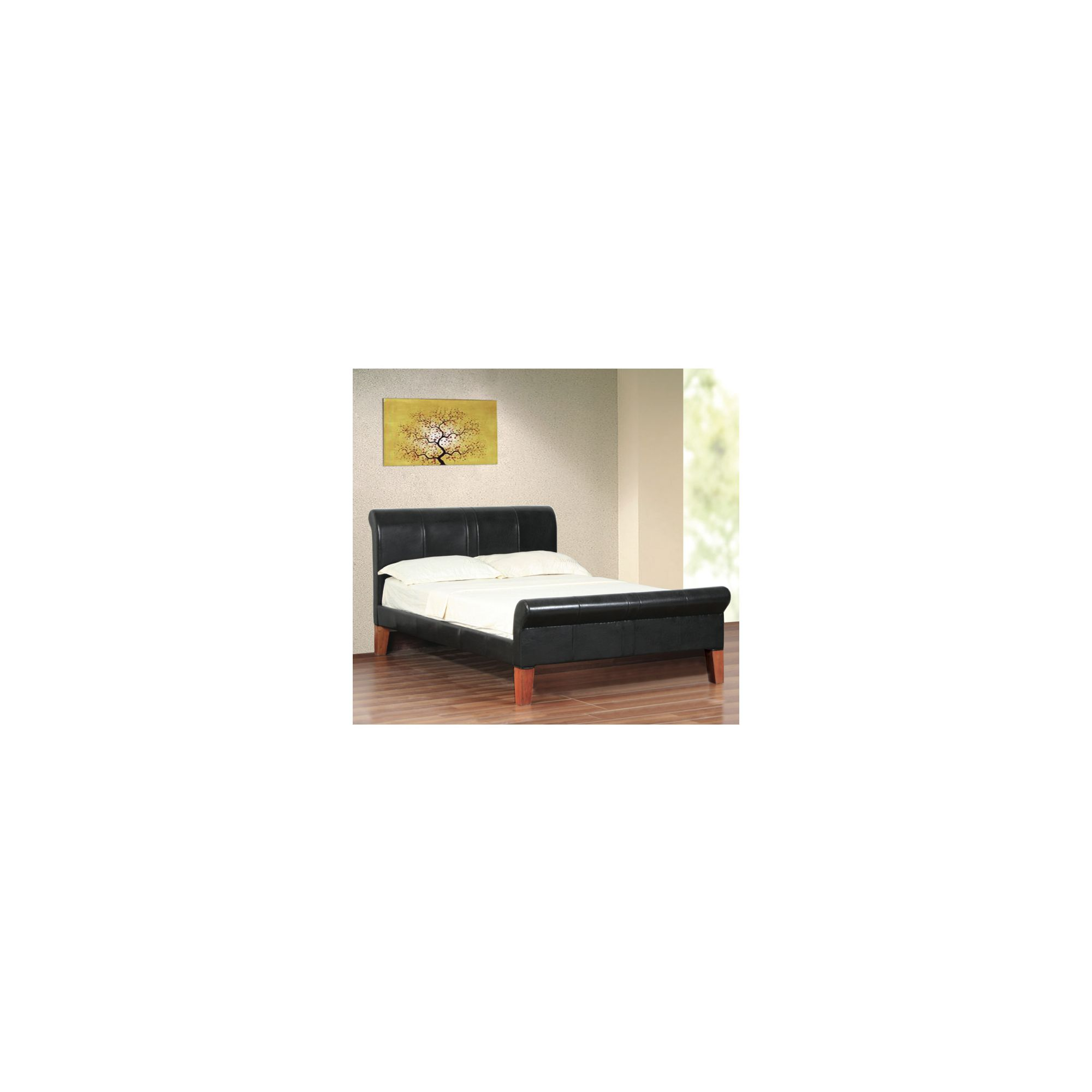 Elements Ottowa Bed - Black - Double at Tesco Direct