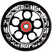 Madd Gear MGP Aero Skull Wheel 100mm inc Bearings - Black