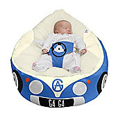 Gaga Luxury Cuddlesoft Baby Bean Bag - Iconic Campervan Blue