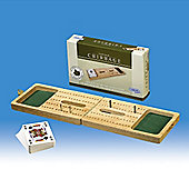 Top Quality Traditional Folding Wooden Cribbage Set By Gibsons Games