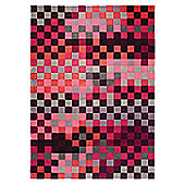 Esprit Pixel Red Contemporary Rug - 90cm x 160cm