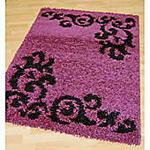 Origin Red Lotus Purple Rug - 220cm x 160cm