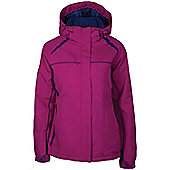 North Star Womens Ski Snowboarding Skiing Hooded Insulated Padded Jacket - Red