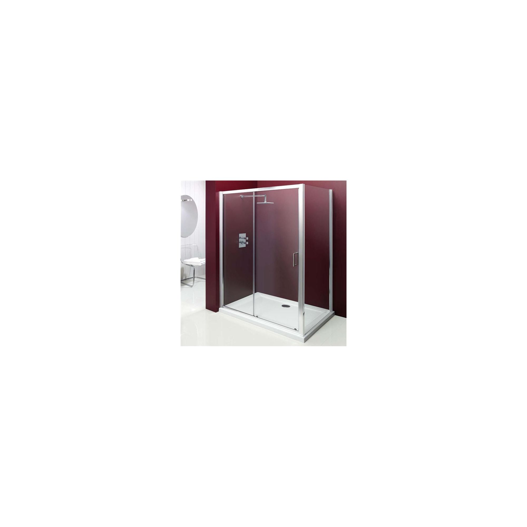 Merlyn Vivid Entree Sliding Door Shower Enclosure, 1100mm x 800mm, Low Profile Tray, 6mm Glass at Tesco Direct