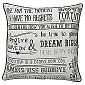 Inspirational Script Cushion