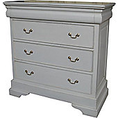 Lock stock and barrel Mahogany 3 Drawer Sleigh Chest - Antique White