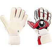 Uhlsport Ergonomic Absolutgrip Junior Goalkeeper Gloves - White