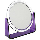 Famego 5x Magnification Stand Mirror in Purple