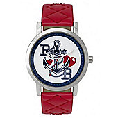 Pauls Boutique Ladies Mia Red Leather Strap Watch PA007RD