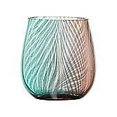 Pied A Terre Glass Ombre Tumbler In Purple