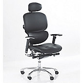 Ergonomics 4 Work Wave Full Leather Chair - With Leather Headrest