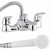 D Type Bath Shower Mixer with Shower Kit & Wall Bracket