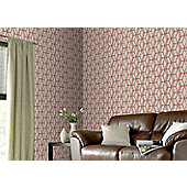 Graham & Brown Ling Wallpaper - Beige and Red