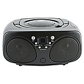 Tesco Boombox with CD & FM Radio Black