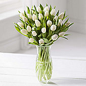 Simply Tulips White Bouquet