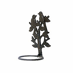 Cast Iron Birds in a Tree Single Wall Plant Pot Holder