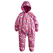 Joules Baby Snowsuit - Raining Cats and Dogs - Pink