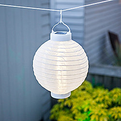 White LED Solar Powered Chinese Hanging Lantern