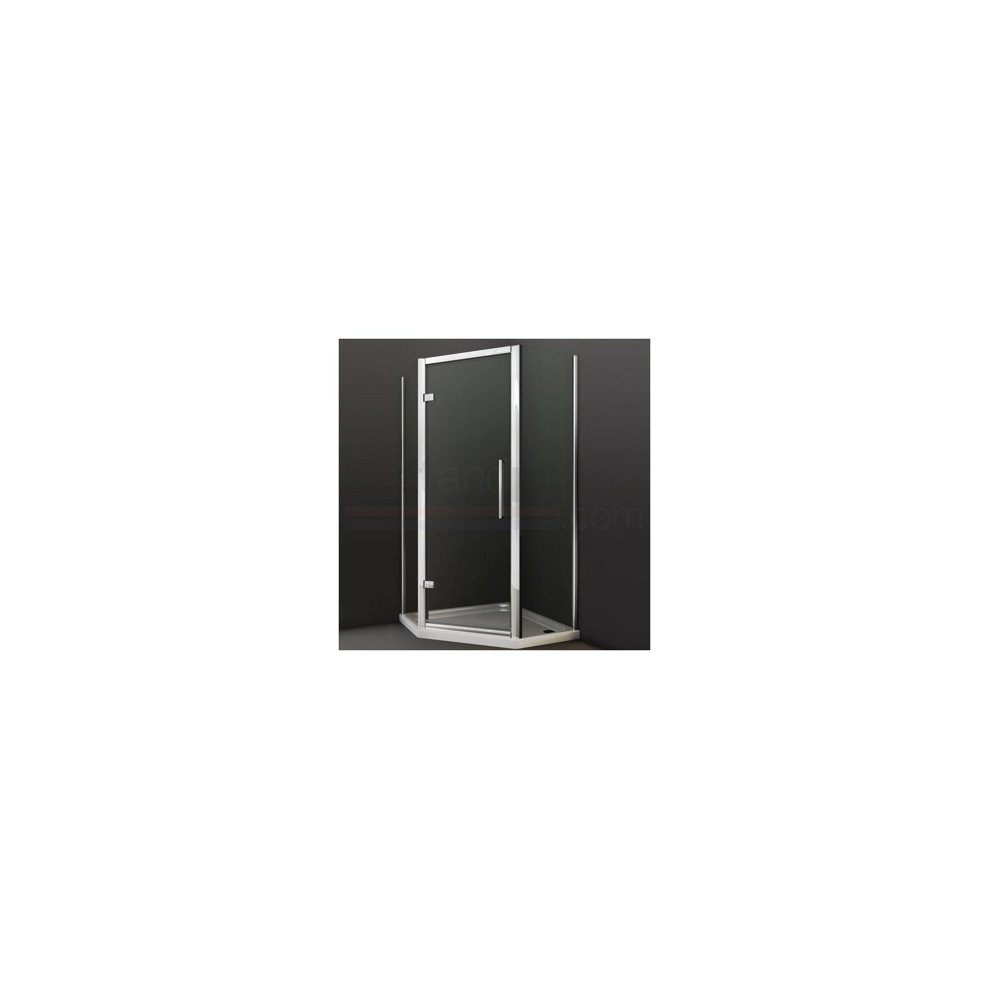 Merlyn Series 8 Hinged Door with Side Panel Shower Enclosure 700mm (Complete with Tray) - 8mm Glass at Tesco Direct