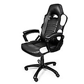Arozzi Enzo Gaming Chair White High quality Thick padding on the arm wrists ENZO-WH