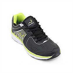 Woodworm Sports Flame Mens Running Shoes / Trainers Black/Fluvo Size 6
