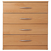 Ashton 4 Drawer Chest,  Beech