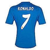2013-14 Real Madrid Away Shirt (Ronaldo 7) - Blue