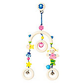 Heimess 734840 Wooden Mini Trapeze Clip On Mobile (Mermaid)