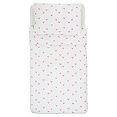 Tesco Toddler Duvet Set - Heart