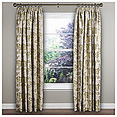"Garland Lined Pencil Pleat Curtains W117xL137cm (46x54"") - - Green"