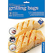 Set of Three Re-Usable Non-Stick Grill Bags