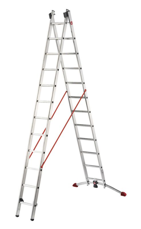 Hailo 700cm Profilot 2-Section Aluminium Multi-Purpose Ladder
