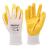 Silverline Nylon Nitrile Coat Gloves Large