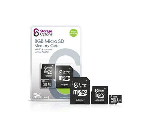Storage Options 8GB MicroSDHC Memory Card
