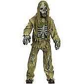 Child Skeleton Zombie Costume Medium