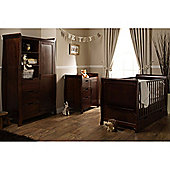Obaby Lincoln Sleigh 3 Piece Furniture Set - Walnut