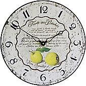 Roger Lascelles Clocks Tarte Au Pommes Wall Clock