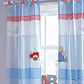 Izziwotnot Humphreys Little Red Car Tab Top Curtains