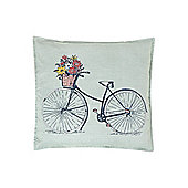 Dickins & Jones Bicycle Duck Egg Cushion