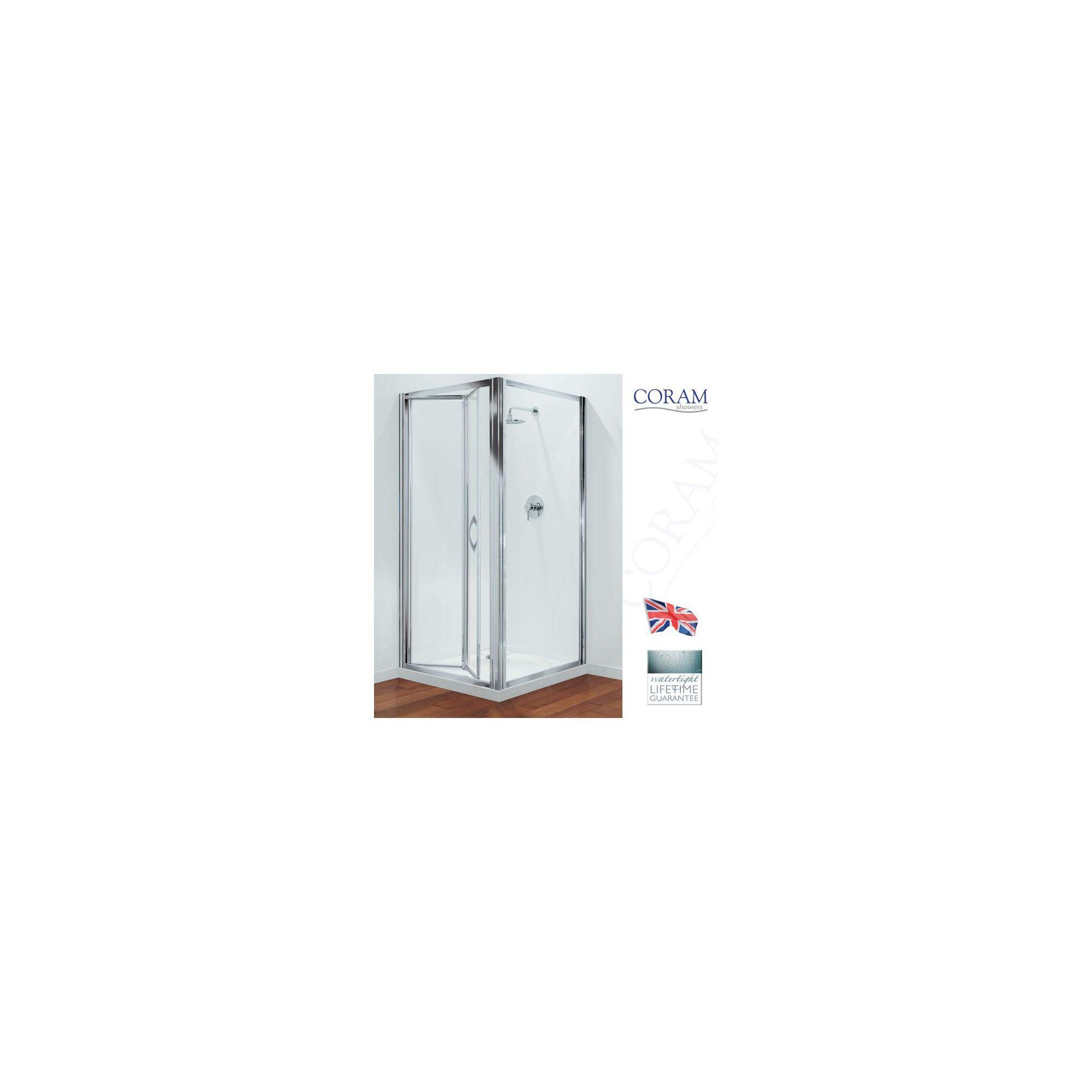 Coram Premier Bi-Fold Door Shower Enclosure, 900mm x 900mm, Low Profile Tray, 6mm Glass at Tescos Direct
