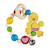 Heimess 735240 Wooden Elasticated Touch Ring Rattle (Duck)