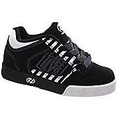Heelys Caution Black/White/Grey Heely Shoe - Black