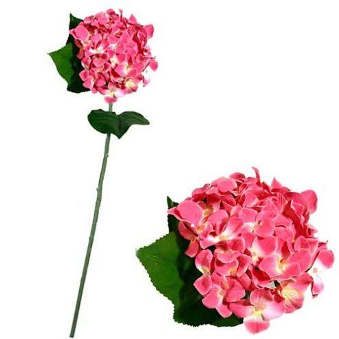 Artificial 75cm Single Stem Pink Hydrangea