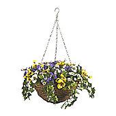Smart Garden 30cm Artificial Pansy Hanging Basket