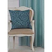 Hamilton Mcbride Darcy Piped Teal Cushion Cover - 50x50cm