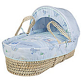 Clair de lune Ahoy Palm Moses Basket, Blue
