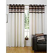 Dreams n Drapes Kendal Chocolate 66x72 Eyelet Lined Eyelet Curtains